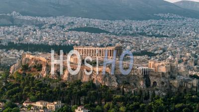 Vue Aérienne De Athènes Parthénon Acropole Grèce Ancienne Cecropia Erechtheion Et Temple D'athéna Nike - Vidéo Par Drone