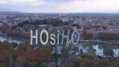 Pont D'avignon Bridge And Historic Centre Of Avignon - Video Drone Footage