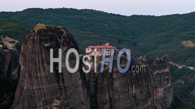 Aerial View Of Meteora, Ancient Complex Of Eastern Orthodox Monasteries Thessaly, Greece - Video Drone Footage