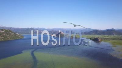 Montenegro Skadar Lake Ascend. Video Drone Footage