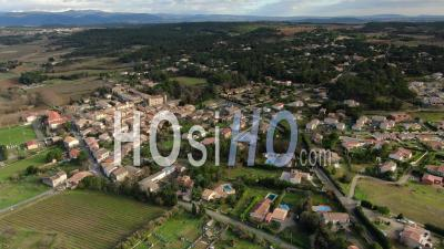 Malves-En-Minervois, Village Among Vineyard And Pine Forest - Video Drone Footage