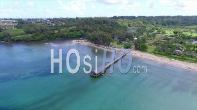 Hanalei Jetty - Drone Point Of View