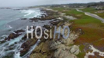 Côte De Pebble Beach - Vidéo Par Drone