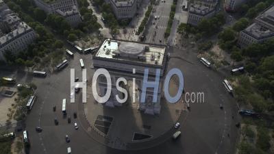 L'arc De Triomphe à Paris Vidéo Drone