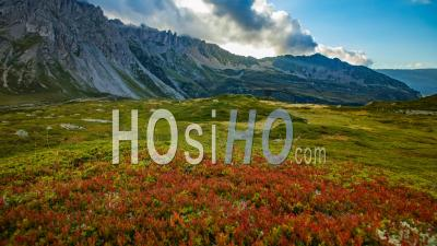 Timelapse Of French Alps During Autumn