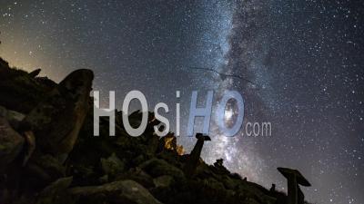 Timelapse Du Ciel Nocturne à Chamonix