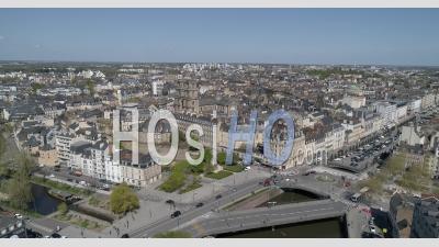 Point De - Vidéo Drone De La Ville De Rennes, Bretagne, France
