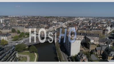 Point De Vue De Drone De La Ville De Rennes, Bretagne, France