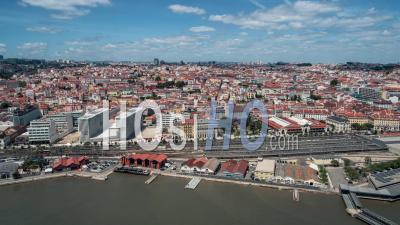 Skyline De Lisbonne, Pombaline Downtown, Lisbonne, Lisbonne, Portugal - Vidéo Drone