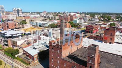 Mixed Use Industrial District Of Memphis Tennessee With Apartments, Condos And Converted Old Warehouses - Aerial Video By Drone