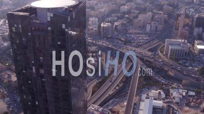 2019 - Aerial Video Over The City Of Amman, Jordan Downtown Business District, Skyscrapers And Offices - Video Drone Footage
