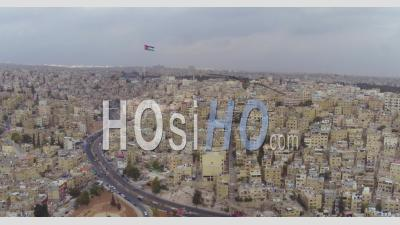 2019 - Aerial Video Over The Old City Of Amman, Jordan On A Stormy Day - Video Drone Footage