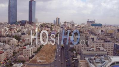 2019 - Aerial Video Over The City Of Amman, Jordan With Streets And Traffic - Video Drone Footage