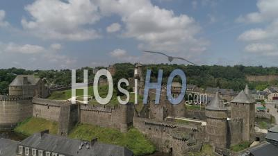 Castle Of Fougeres, Brittany, France - Aerial Video By Drone