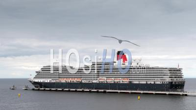Time Lapse, Cruise Ship In Visby Harbor