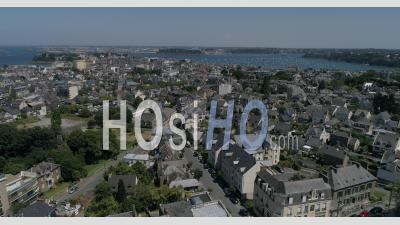The City Of Dinard And The Bay Of Saint Malo In Summer - Drone Point Of View