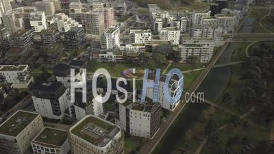 Eco-District Ginko In The District Of Bordeaux Lac - Video Drone Footage
