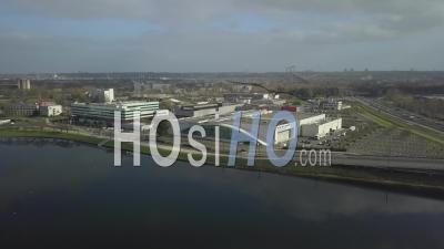 District Of Palais Des Congres, Bordeaux Lac District - Drone Stock Footage