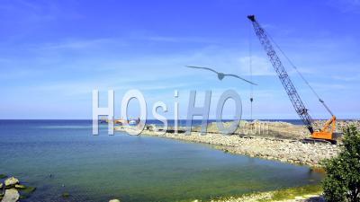 Time Lapse, Pier Construction Site, Gotland Suède