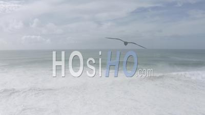 Big Waves In Praia Do Norte Nazare - Video Drone Footage