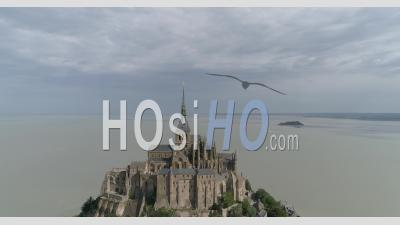 The Mont Saint Michel In Normandy, France - Video Drone Footage