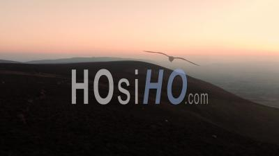 Winter Sunset Over Scenic Hills - Video Drone Footage