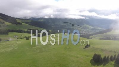 Mont D'arbois Mountain Pasture, Video Drone Footage