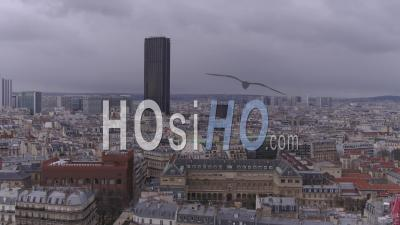 Roofs Of Paris - Montparnasse Tower - Video Drone Footage