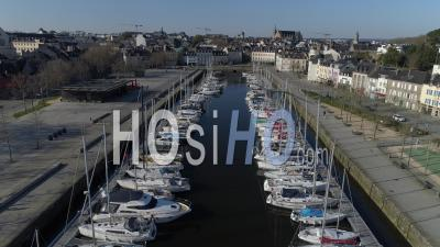 Vannes Seen By Drone - During Covid-19 Outbreak Confinement