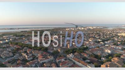 Un Lever De Soleil à Frontignan, Dans Le Sud De La France, Filmé Par Drone