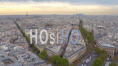 Place De La Republique In Paris - Roofs Of Paris - Video Drone Footage