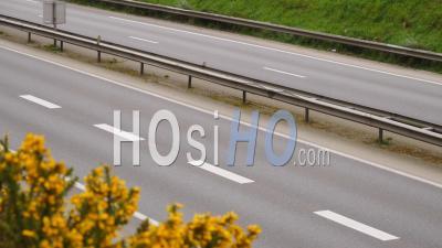 Route Vide Pendant La Quarantaine Covid 19 à Brest, France,