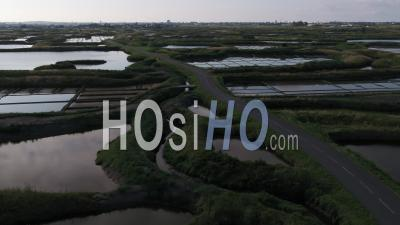 Guerande Salt Marshes Drone Point Of View