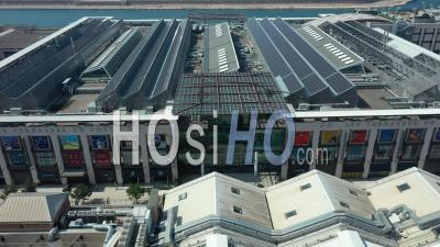 Terrasses Du Port Mall, In Marseille City At Day 12, France - Video Drone Footage