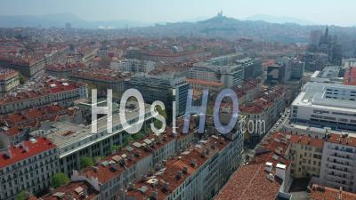 Marseille City Skyline - Joliette, At Day 12, France - Video Drone Footage