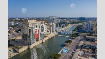 Hotel De Region In Montpellier, During Covid-19 - Aerial Photography
