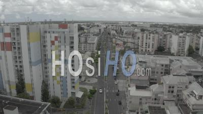 Rue Pendant Covid19 Pointe A Pitre, Guadeloupe - Vidéo Par Drone