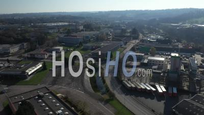 Zone Industrielle Du Sud De Limoges Pendant La Pandémie De Covid-19 - Vidéo Drone