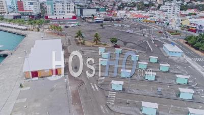 Containment For Covid-19 In Fort-De-France, Martinique, By Drone