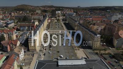 La Maison Du Peuple, Belfort, France, Pendant La Pandémie De Covid-19 - Vidéo Drone