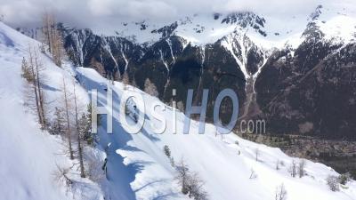 Montenvers à Chamonix Mont Blanc Vue Par Drone