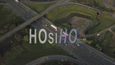 Autoroute, Rocade De Bordeaux, Transport, Ville De Bègles Pendant Covid-19, France - Vidéo Drone