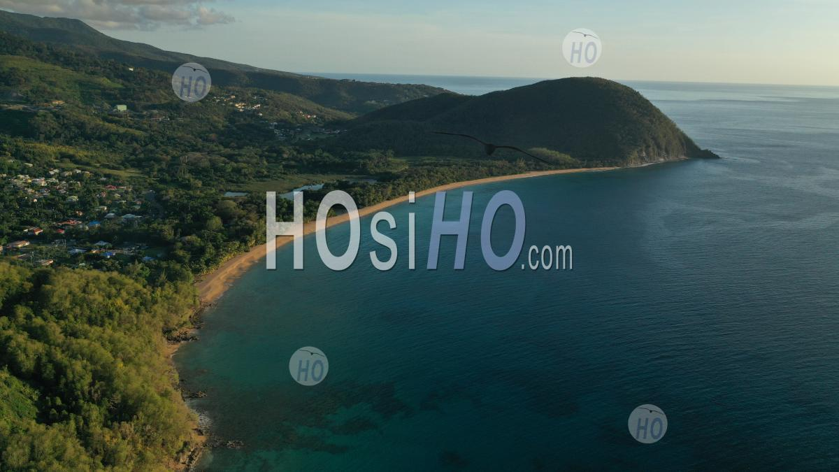 Beach Of Grande Anse , Guadeloupe During Confinement - Aerial Photography