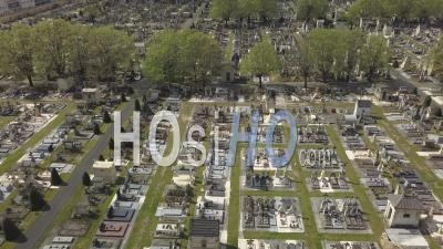 Chartreuse Cemetery, Meriadeck District In Bordeaux City During Covid-19, France - Video Drone Footage