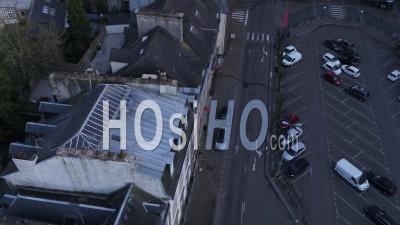 Ville Vide De Morlaix, Par Drone, Pendant La Quarantaine Covid 19