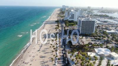 Covid-19 Aerial Footage Of Fort Lauderdale Beach Spring Break - Video Drone Footage