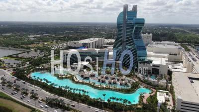 Casino Et Hôtel De Guitare Hard Rock Seminole - Hollywood, Floride - Vidéo Par Drone