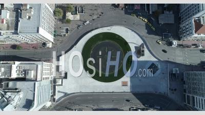 Omonoia Square Centre D'athènes Grèce Covid-19 - Vidéo Drone