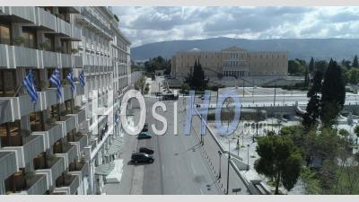 Centre D'athènes Grèce Covid-19 - Vidéo Drone