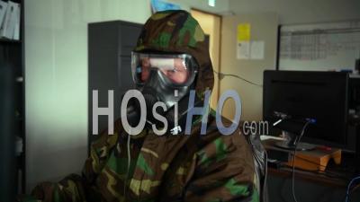 2020 - Le Personnel De L'armée Des Marines Des États-Unis Mène Une Formation Sur La Défense Chimique, Biologique, Radiologique Et Nucléaire à L'échelle De L'unité Alors Que Le Coronavirus, Covid-19, éclosion Commence.